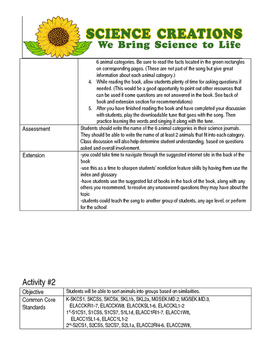 S.T.E.A.M ANIMAL 5 WEEK LESSON PLANS