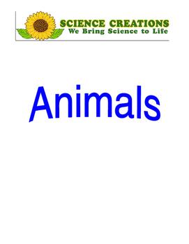 S.T.E.A.M ANIMAL 5 WEEK LESSON PLANS