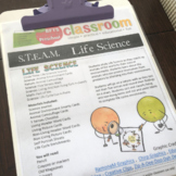 S.T.E.A.M. Life-Science Lesson & Activities