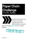 S.T.E.A.M. Paper Chain Challenge Activity