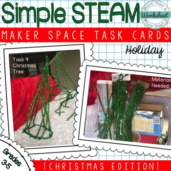 Maker Space Task Cards (Christmas Edition)