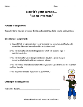 """S.T.E.M. Education: """"Student Inventors & Inventions Project!"""""""