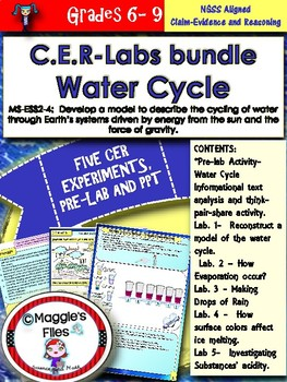 Water Cycle-C.E.R- 5 -Labs bundle- MS-ESS2-4