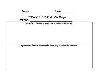 S.T.E.M. Process Sheet