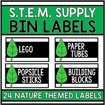 S.T.E.M. Supply Bin Labels