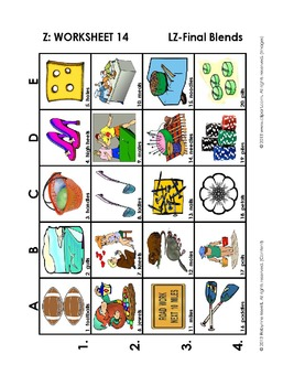S and Z Vocabulary Grids