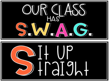 S.W.A.G. Classroom Posters