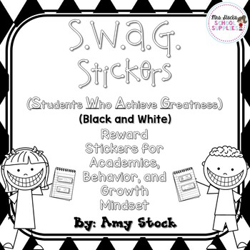 S.W.A.G. Stickers (Black and White)