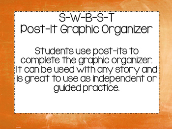 S-W-B-S-T Summary Graphic Organizer