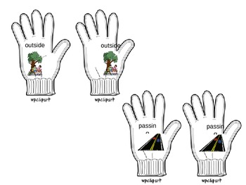 """""""S"""" Word-Medial Glove Matching Game"""