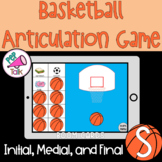 S Words Initial Medial Final Basketball Articulation Game