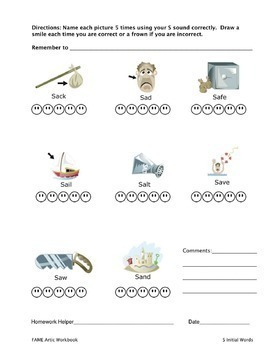 Articulation Workbook for the S Sound Just Print