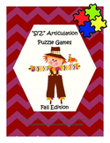 """""""S, Z"""" Articulation Puzzle Pack: Fall Theme"""