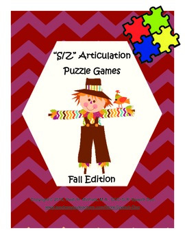 """S, Z"" Articulation Puzzle Pack: Fall Theme"