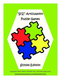 """""""S, Z"""" Articulation Puzzle Pack: School Theme"""