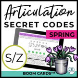 S / Z Articulation Secret Codes BOOM Cards - Spring | Spee