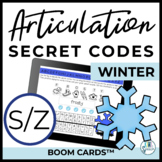 S & Z Articulation Secret Codes BOOM Cards for Digital Spe