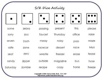 S/Z Dice Activity