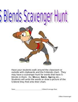 S and L Blends Scavenger Hunt