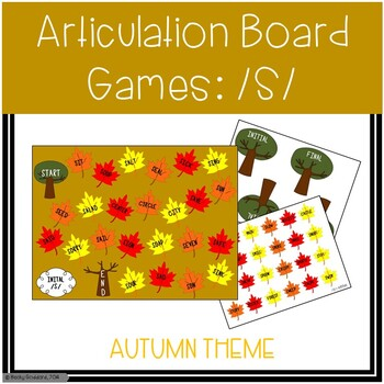 /S/ and /S/-Blends Articulation Board Games - Fall Theme