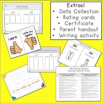 Articulation Activities and Comic Book: Speech Therapy (/s/ and /z/)