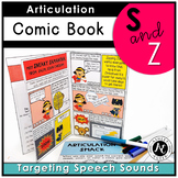 S and Z Articulation Therapy Activity Elementary Easy Prin