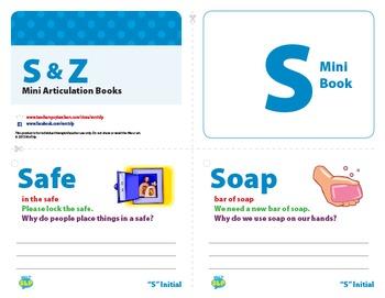 S and Z Mini Articulation Books