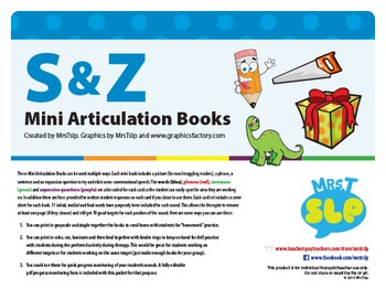 S and Z Mini Articulation Books