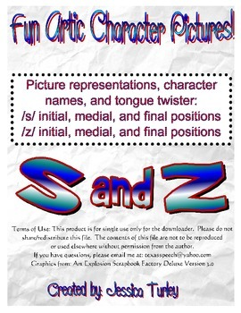 Posters and Tongue Twisters for Articulation: S and Z