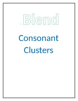 S-blend practice (consonant clusters and blends)