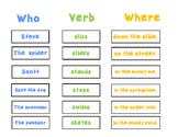 S blend sentence starters