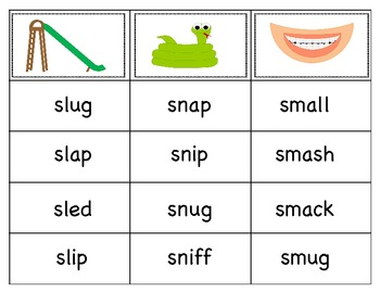 S-blend word sort by Amy Small | Teachers Pay Teachers