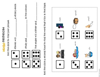 S-blends: Tactile Cues & Dice Activities at isolation, word, & sentence level