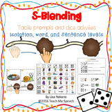 S-blends: Tactile Cues & Dice Activities at isolation, wor