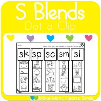 Dot a Blend: Beginning S blends
