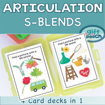 S-blends Articulation Numbers Battle and Find It Game