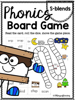 S-blends PHONICS BOARD Game