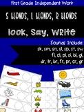 S blends, R blends, L blends (look, say, write)