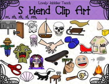 S blends and Digraphs Clip Art