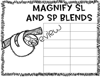 S blends phonics word work