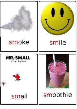 S blends - 'sm' flashcards