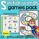 Articulation games for speech therapy s initial words