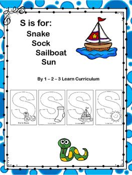 S is For: Cutting and Pasting Activity Sheets