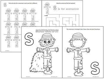 S is for Scarecrow - No Prep Activity Pages