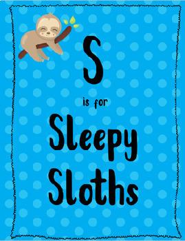 S is for Sleepy Sloths