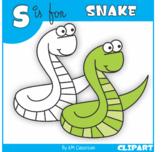 S is for Snake Clip Art