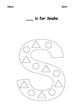 S is for Snake Letter Craft