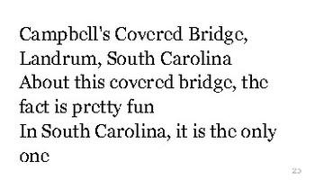 S is for South Carolina flash cards