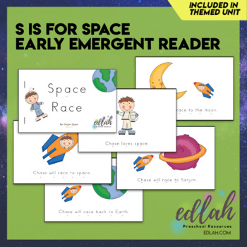 S is for Space Early Emergent Reader