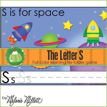 S is for Space File Folder Game